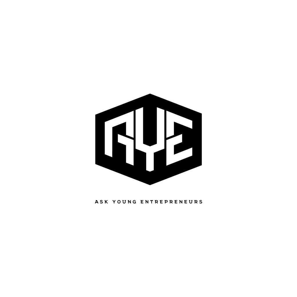 AYE logo logodesign entrepreneuer askyoungentrepreneuer youtubechannel youtube brandidentity google