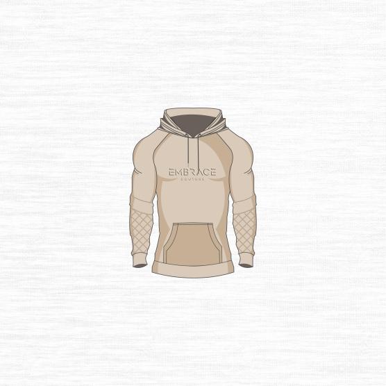 Pullover Hoodie Tan